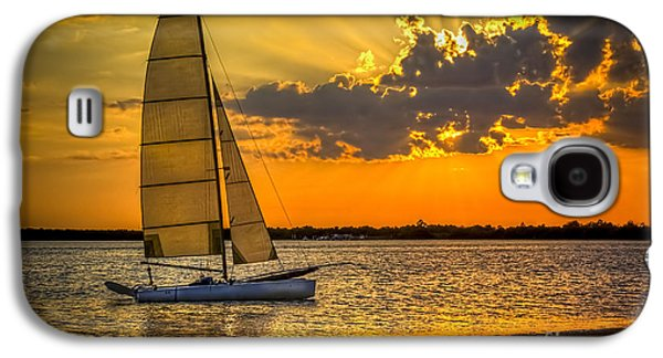 Beach Landscape Galaxy S4 Cases - Sunset Sail Galaxy S4 Case by Marvin Spates