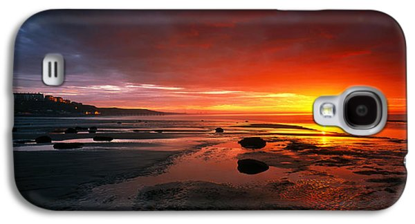 Sun Galaxy S4 Cases - Sunset Saltburn N England Galaxy S4 Case by Panoramic Images