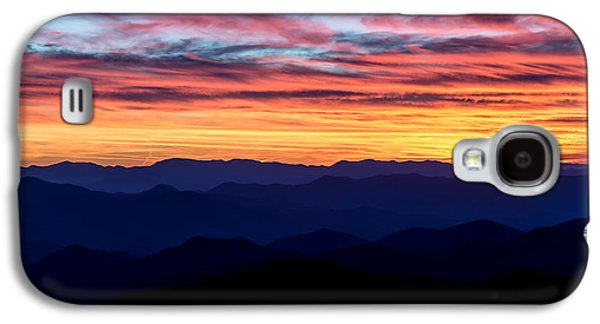 Sun Galaxy S4 Cases - Sunset Silhouette on the Blue Ridge Parkway Galaxy S4 Case by Andres Leon