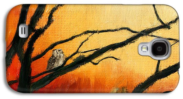 Reds Of Autumn Galaxy S4 Cases - Sunset Sitting Galaxy S4 Case by Lourry Legarde