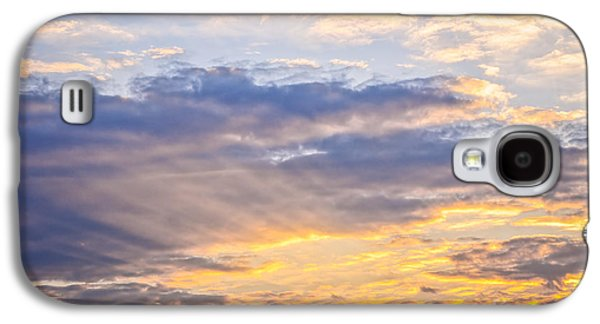 Cloudy Day Galaxy S4 Cases - Sunset sky Galaxy S4 Case by Elena Elisseeva