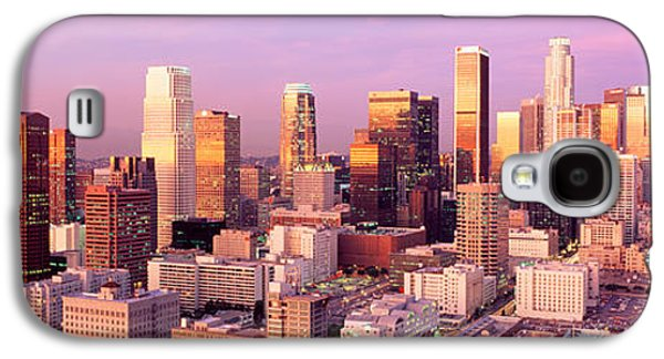 Business Galaxy S4 Cases - Sunset Skyline Los Angeles Ca Usa Galaxy S4 Case by Panoramic Images