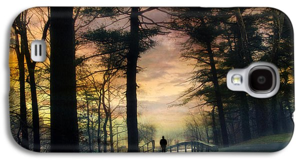 Alone Digital Art Galaxy S4 Cases - Sunset Solitude Galaxy S4 Case by Jessica Jenney