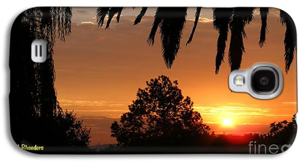 Abstract Digital Paintings Galaxy S4 Cases - SUNSET SONATA 5 H a Galaxy S4 Case by Gert J Rheeders