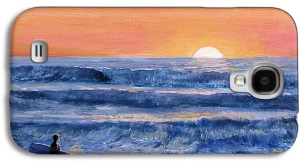Jack Skinner Galaxy S4 Cases - Sunset Surfer Galaxy S4 Case by Jack Skinner
