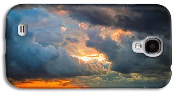 Anticipation Photographs Galaxy S4 Cases - Sunset Through Grey Storm Clouds  Galaxy S4 Case by Daya Tom