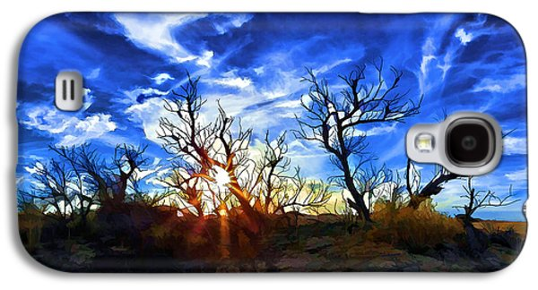 Photo Manipulation Galaxy S4 Cases - Sunset Trees at Sandhills SP 2 Galaxy S4 Case by Bill Caldwell -        ABeautifulSky Photography