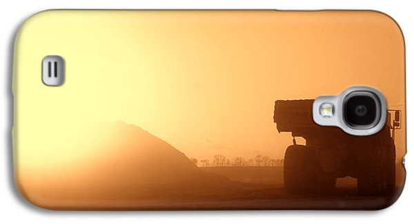 Machinery Galaxy S4 Cases - Sunset Truck Galaxy S4 Case by Olivier Le Queinec