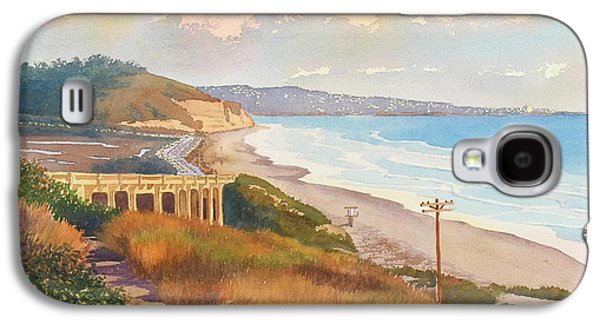 Pine Paintings Galaxy S4 Cases - Sunset View of Torrey Pines Galaxy S4 Case by Mary Helmreich