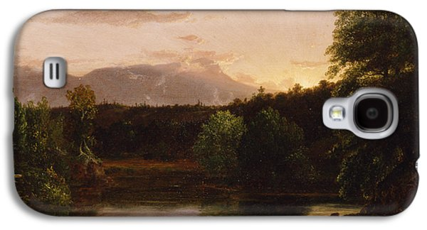 1833 Galaxy S4 Cases - Sunset  View on Catskill Creek Galaxy S4 Case by Thomas Cole