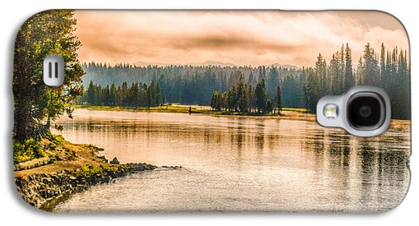 Bison Digital Galaxy S4 Cases - Sunset Yellowstone Galaxy S4 Case by  Bob and Nadine Johnston