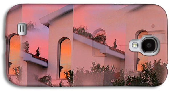Amazing Sunset Galaxy S4 Cases - Sunsets on Houses Galaxy S4 Case by Augusta Stylianou