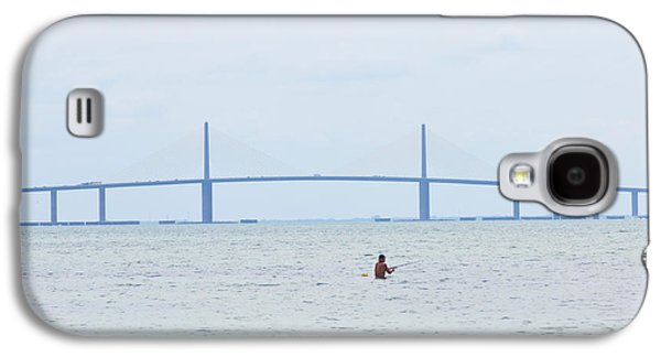 Sunshine Skyway Bridge Galaxy S4 Cases - Sunshine Skyway Bridge Galaxy S4 Case by Bill Cannon