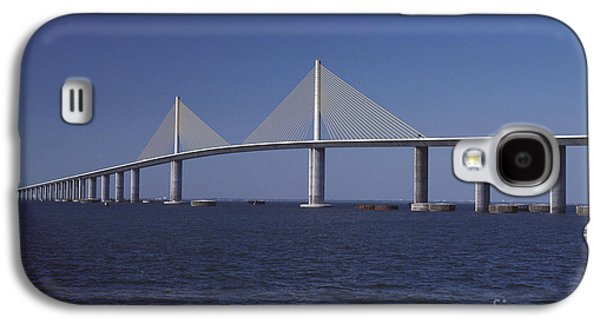 Sunshine Skyway Bridge Galaxy S4 Cases - Sunshine Skyway Bridge Galaxy S4 Case by Dale E. Boyer