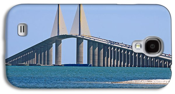Sunshine Skyway Bridge Galaxy S4 Cases - Sunshine Skyway Bridge Galaxy S4 Case by Delmas Lehman