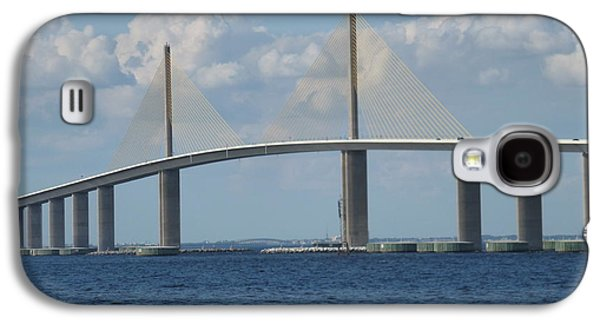 Sunshine Skyway Bridge Galaxy S4 Cases - Sunshine Skyway Bridge Florida 2 Galaxy S4 Case by Andrew Rodgers