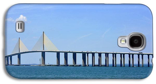 Sunshine Skyway Bridge Galaxy S4 Cases - Sunshine Skyway Bridge II Tampa Bay Florida USA Galaxy S4 Case by Sally Rockefeller