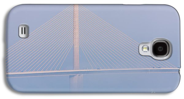 Sunshine Skyway Bridge Galaxy S4 Cases - Sunshine Skyway Bridge in Fog II Galaxy S4 Case by Clarence Holmes
