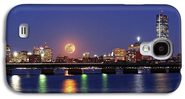 New England Galaxy S4 Cases - Super Moon over Boston Galaxy S4 Case by Juergen Roth