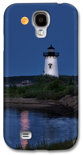 Sea Moon Full Moon Galaxy S4 Cases - Super Moon Over Edgartown Lighthouse Galaxy S4 Case by Mark Miller