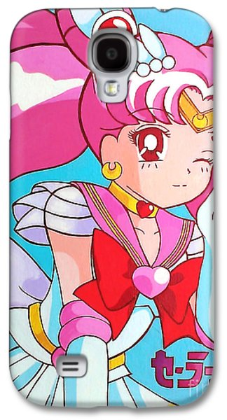 Animation Paintings Galaxy S4 Cases - Super Sailor Mini Moon Galaxy S4 Case by Jin Kai