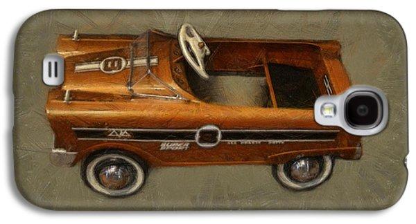 Kids Sports Art Galaxy S4 Cases - Super Sport Pedal Car Galaxy S4 Case by Michelle Calkins