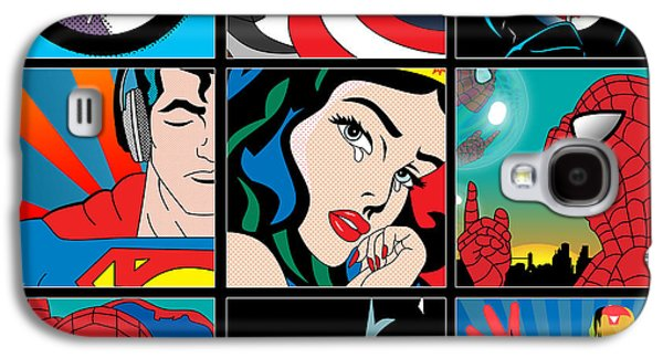 Best Sellers -  - Animation Galaxy S4 Cases - Superheroes Galaxy S4 Case by Mark Ashkenazi