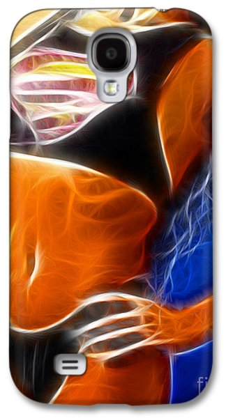 Supergirl Digital Galaxy S4 Cases - Superman 1 Fractal Galaxy S4 Case by Gary Gingrich Galleries