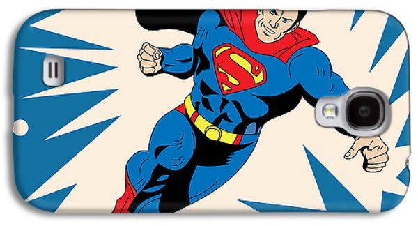Animation Galaxy S4 Cases - Superman 8 Galaxy S4 Case by Mark Ashkenazi