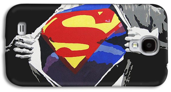 Print Paintings Galaxy S4 Cases - Superman Galaxy S4 Case by Erik Pinto