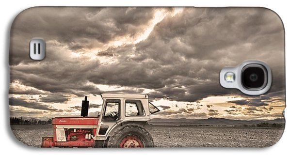 Tractor Prints Galaxy S4 Cases - Superman Sepia Skies Galaxy S4 Case by James BO  Insogna