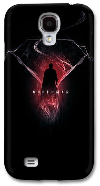 Smoke Digital Art Galaxy S4 Cases - Superman - Steel Vapours Galaxy S4 Case by Alyn Spiller