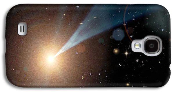 Jet Star Galaxy S4 Cases - Supermassive Black Hole, Artwork Galaxy S4 Case by Nasa