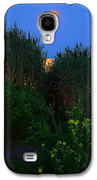 Blue And Green Galaxy S4 Cases - Supermoon 2014 -Color Galaxy S4 Case by Lourry Legarde