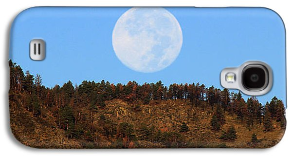 Horsetooth Galaxy S4 Cases - Supermoon Set Galaxy S4 Case by Emily Clingman