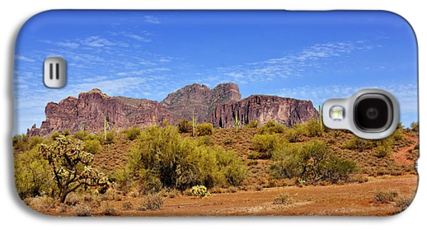 Flat Iron Galaxy S4 Cases - Superstition Mountains Arizona - Flat Iron Peak Galaxy S4 Case by Christine Till