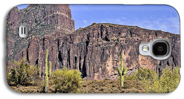 Flat Iron Galaxy S4 Cases - Superstition Wilderness Arizona Galaxy S4 Case by Christine Till