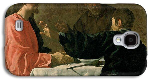 Jesus Photographs Galaxy S4 Cases - Supper At Emmaus, 1620 Oil On Canvas Galaxy S4 Case by Diego Rodriguez de Silva y Velazquez