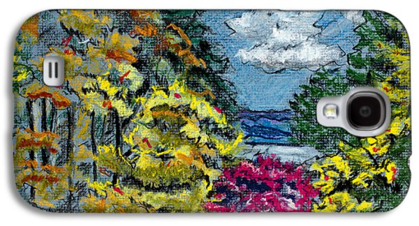 Waterscape Pastels Galaxy S4 Cases - Suquamish Fall Galaxy S4 Case by Laura Stokes
