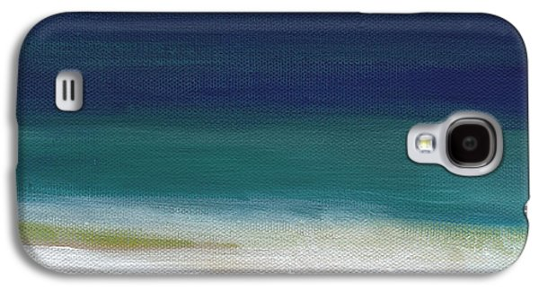Surf And Sky- Abstract Beach Painting Galaxy S4 Case by Linda Woods