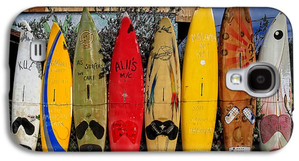 Shirt Galaxy S4 Cases - Surf Board Fence Maui Hawaii Galaxy S4 Case by Edward Fielding