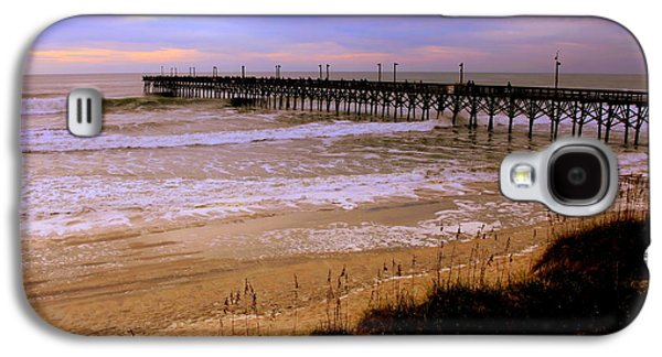 Topsail Galaxy S4 Cases - Surf City Pier Galaxy S4 Case by Karen Wiles