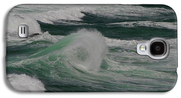 Surf On The Beach, Cape Kiwanda State Galaxy S4 Case by Panoramic Images