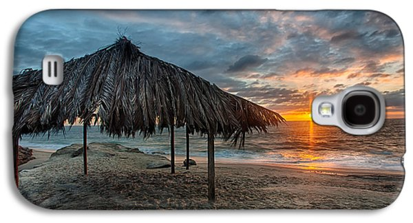 Beach Landscape Galaxy S4 Cases - Surf Shack Sunset - Lrg Print Galaxy S4 Case by Peter Tellone