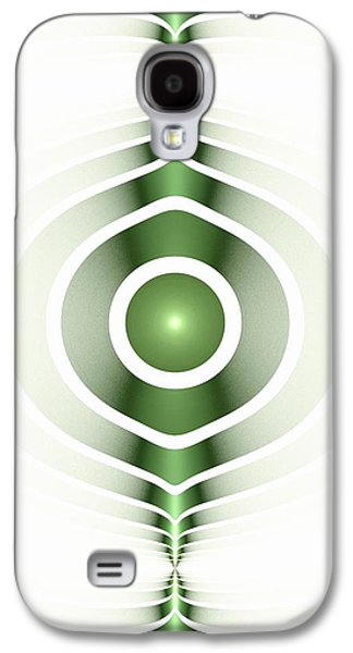 Recently Sold -  - Light Galaxy S4 Cases - Surface Waves - Green Galaxy S4 Case by Anastasiya Malakhova