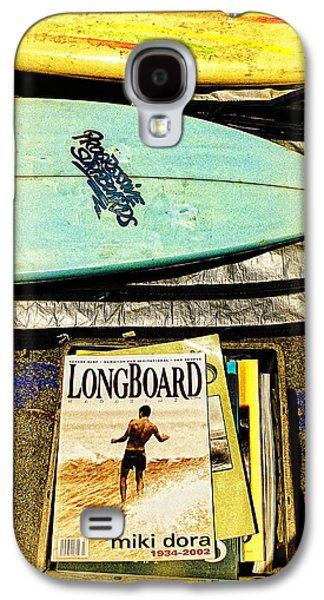Surfing Magazine Galaxy S4 Cases - Surfboards and Magazines Galaxy S4 Case by Ron Regalado