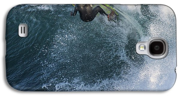Steamer Lane Galaxy S4 Cases - Surfer at Steamer Lane Galaxy S4 Case by Bruce Frye