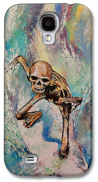 Surrealistic Paintings Galaxy S4 Cases - Surfer Galaxy S4 Case by Michael Creese