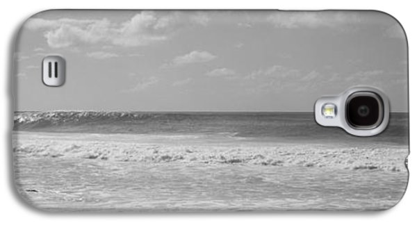Person Galaxy S4 Cases - Surfer Standing On The Beach, North Galaxy S4 Case by Panoramic Images