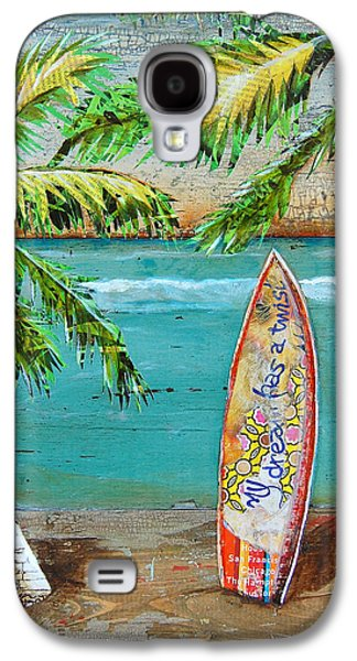 Folk Art Mixed Media Galaxy S4 Cases - Surfs Up Galaxy S4 Case by Danny Phillips